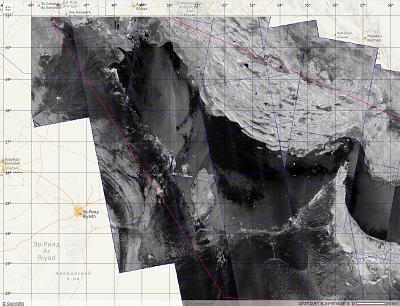 Рис. 1. Пример покрытия Персидского залива радиолокационными изображениями спутников Sentinel-1A and Sentinel-1B в июне 2017г. ©ESA, СКАНЭКС